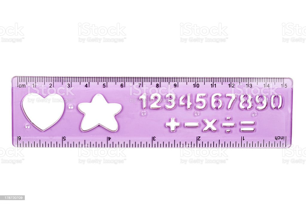 Plastic ruler and stencil royalty-free stock photo