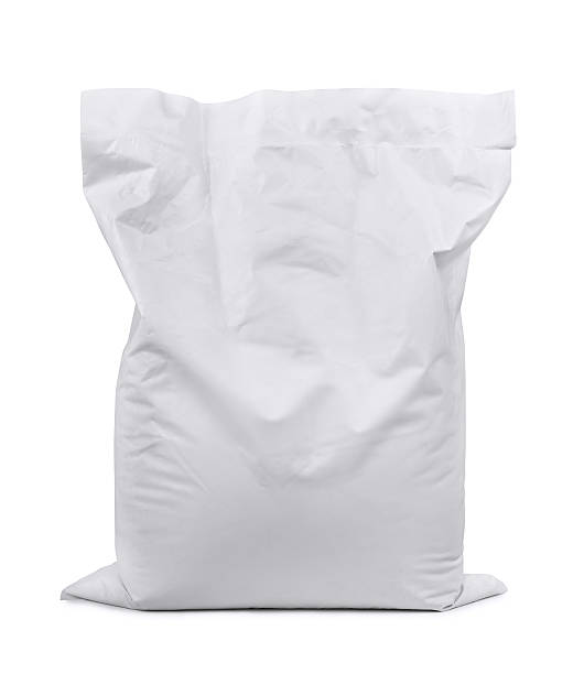 Plastic sack stock photo