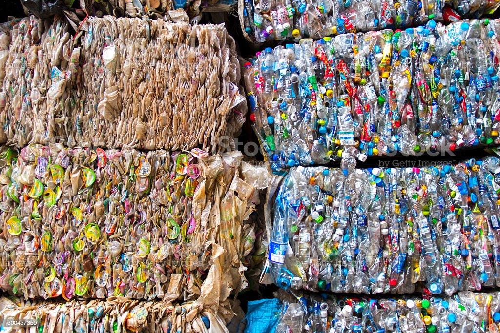 Plastic scrap stock photo