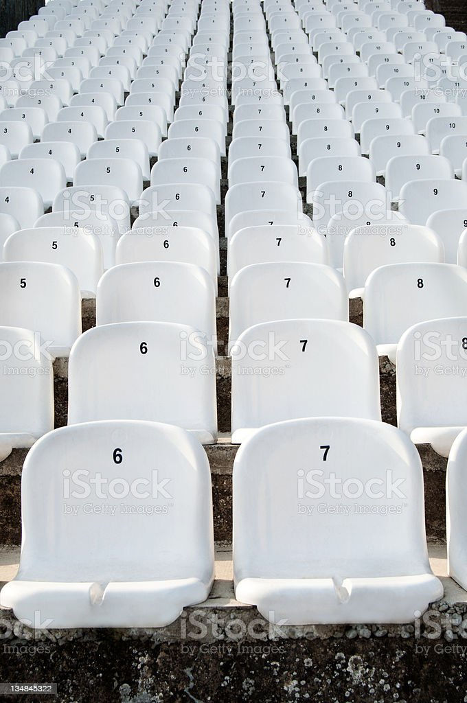plastic seats royalty-free stock photo