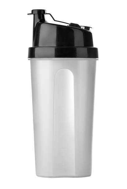 Plastic shaker with clipping path. Plastic shaker isolated on white background with clipping path. cocktail shaker stock pictures, royalty-free photos & images