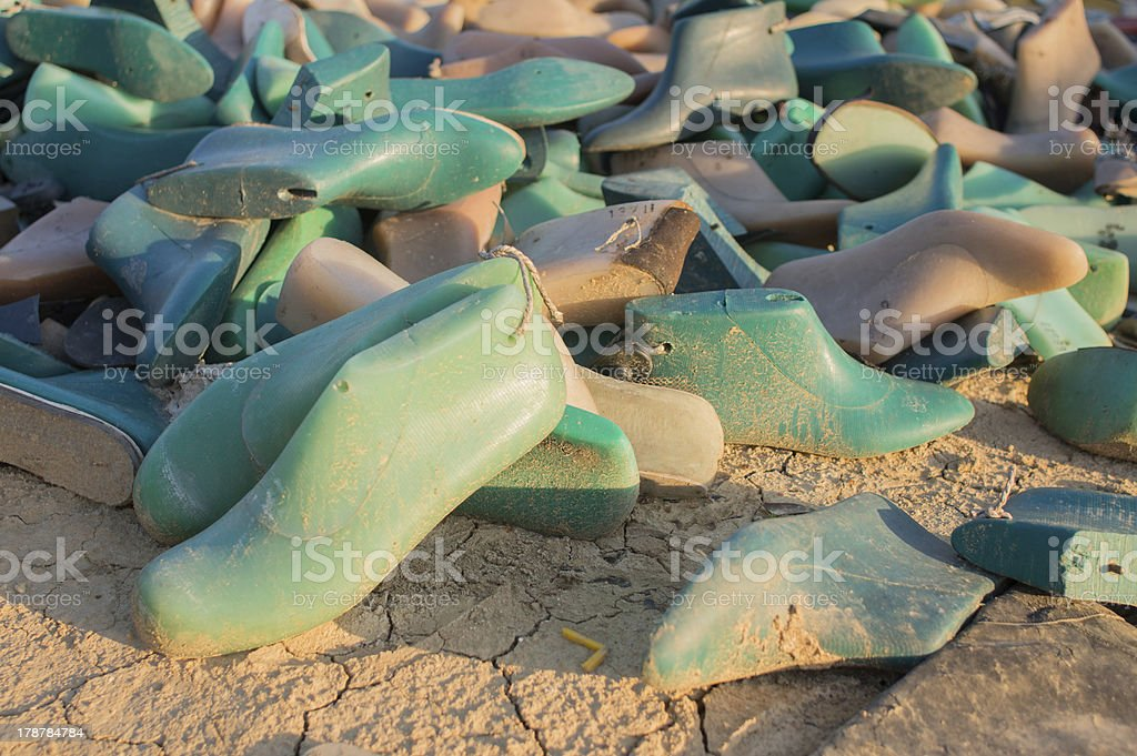 plastic shoe molds royalty-free stock photo