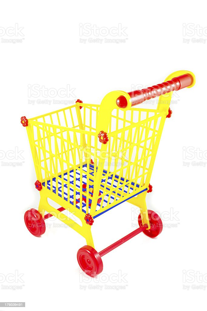 plastic shopping cart royalty-free stock photo