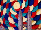 Plastic showpiece object with colourful background unique photo