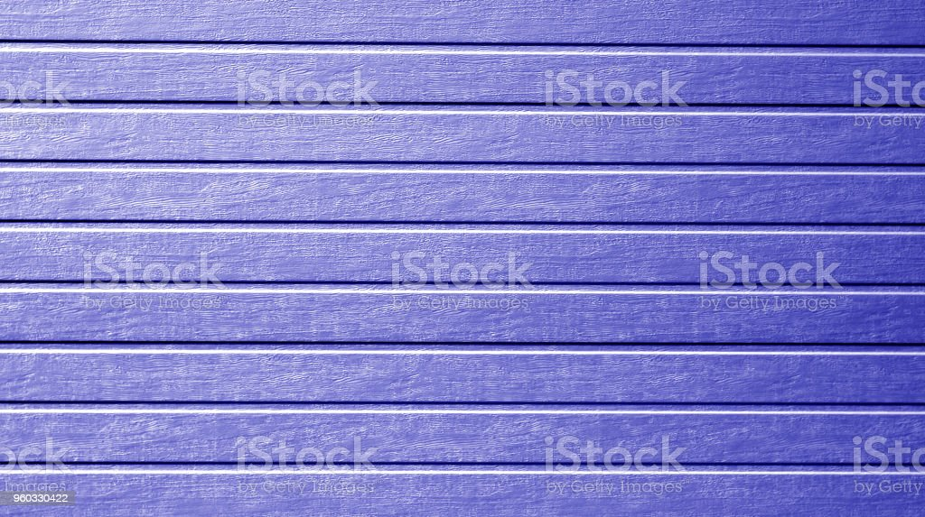 Plastic siding wall texture in blue color. stock photo