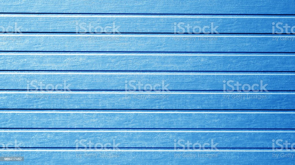 Plastic siding wall texture in navy blue color. stock photo