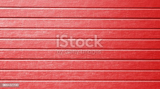Plastic Siding Wall Texture In Red Color Stock Photo & More Pictures of Abstract