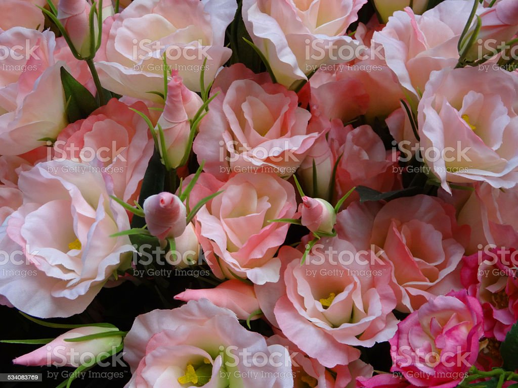 Plastic Silk Pink Roses Artificial Rose Flowers Rose Buds