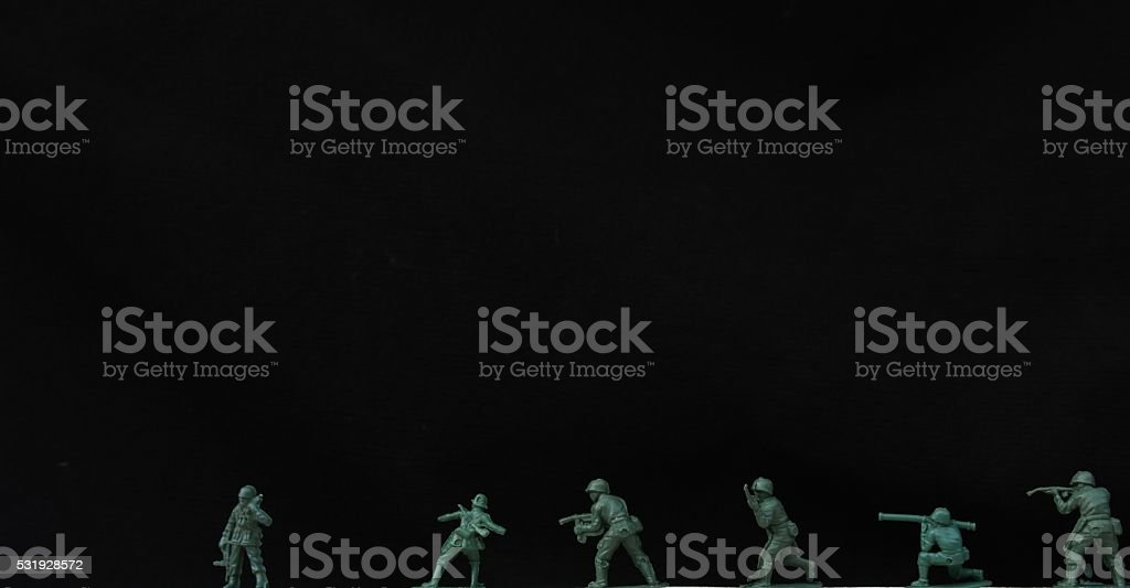 Plastic Soldiers isolated stock photo
