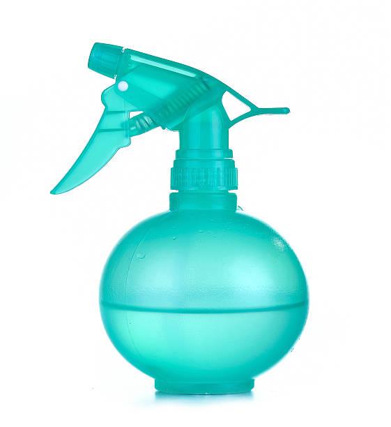 plastic spray bottle isolated on white background stock photo
