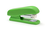 istock Plastic stapler isolated on a white 1205074925