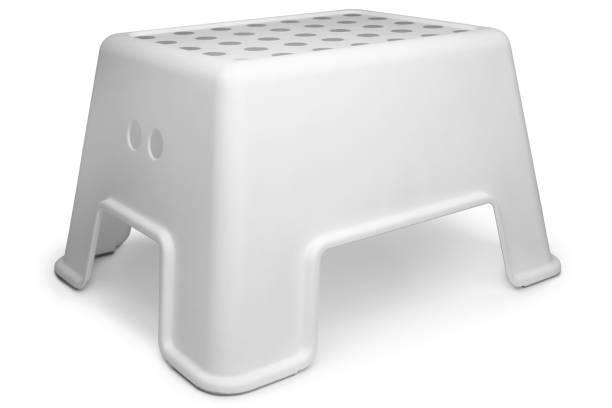 Plastic step stool stock photo