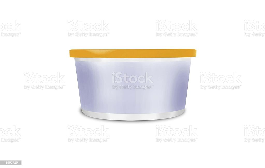plastic storage boxe on white background royalty-free stock photo