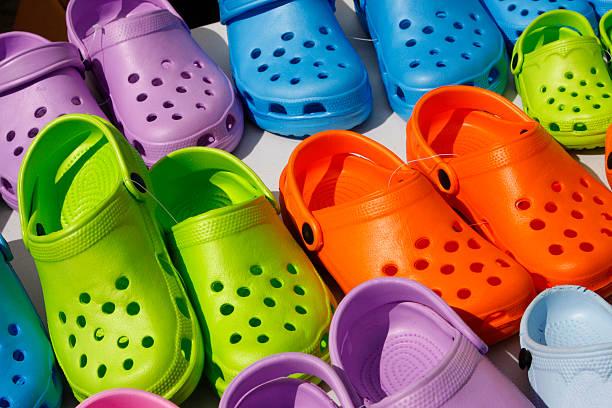 Plastic summer clogs stock photo
