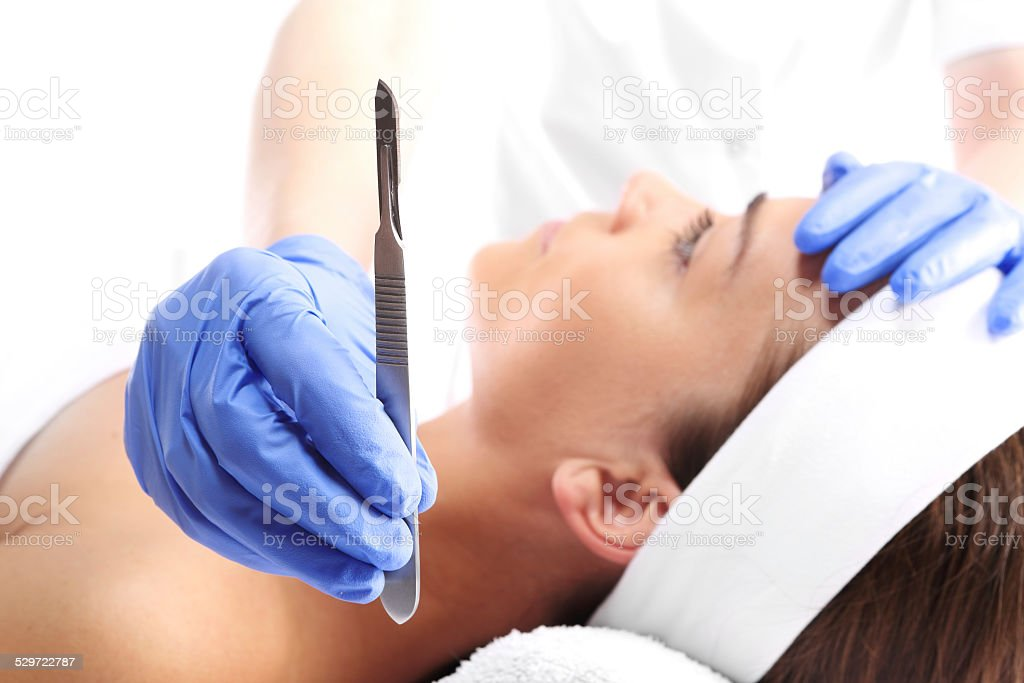 Plastic Surgery A Woman In The Clinic Of Aesthetic Surgery Stock Photo Download Image Now Istock