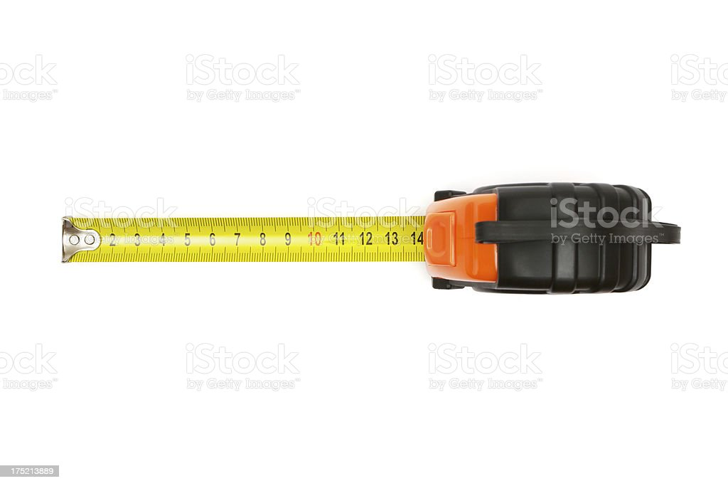 Plastic Tape Measure stock photo