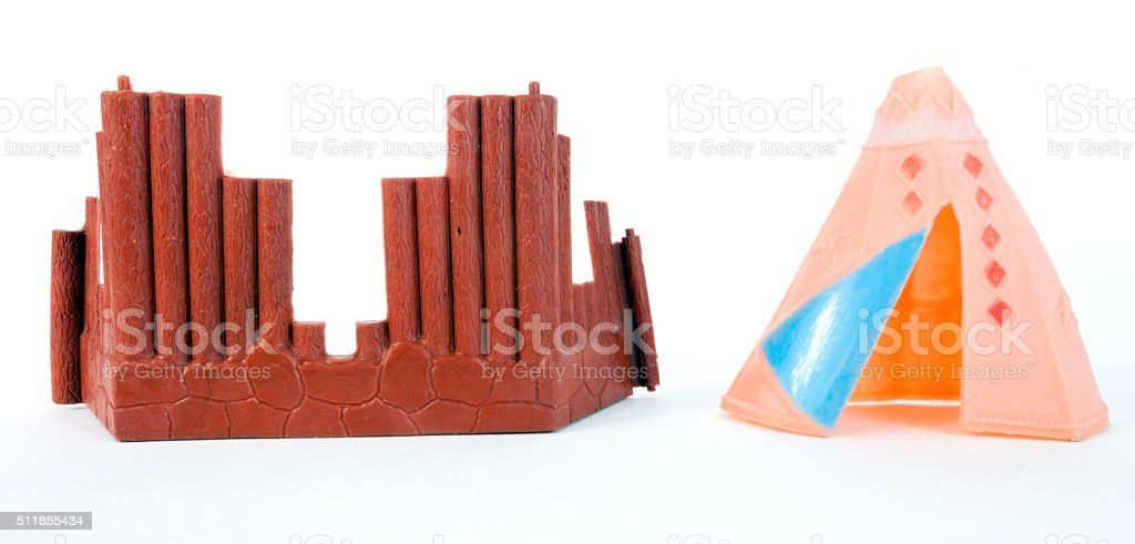 Plastic Tepee and Fort stock photo