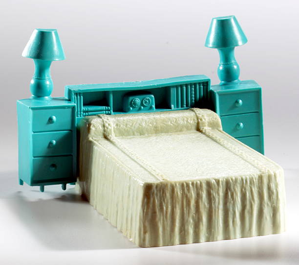 Plastic Toy Bedroom Furniture stock photo