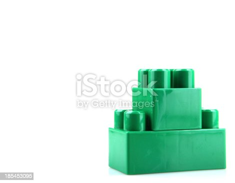 865870702 istock photo Plastic Toy Blocks On White Background 185453095