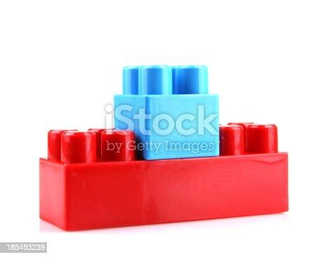 865870702 istock photo Plastic Toy Blocks On White Background 185453239