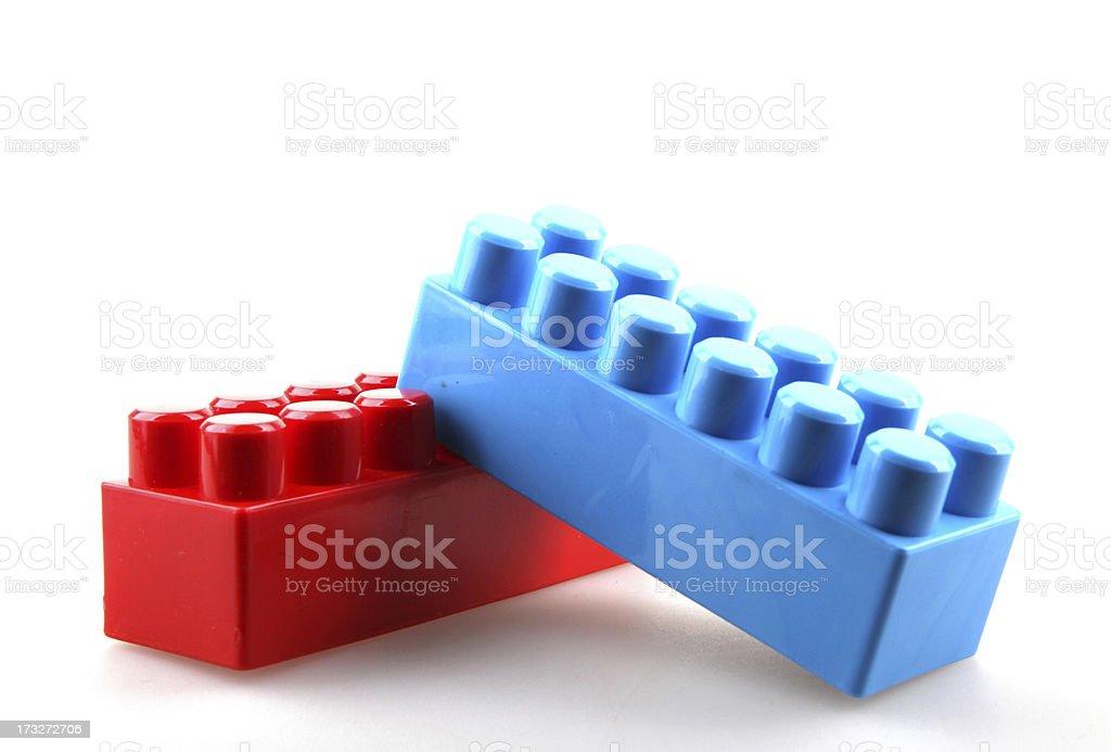 Plastic toy blocks royalty-free stock photo