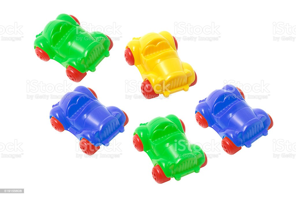 Plastic Toy Cars stock photo