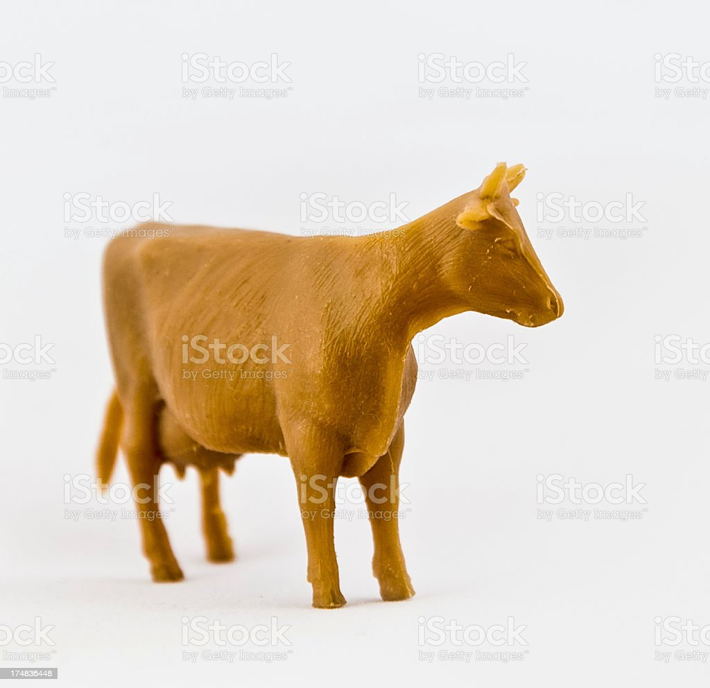 Plastic Toy Cow royalty-free stock photo