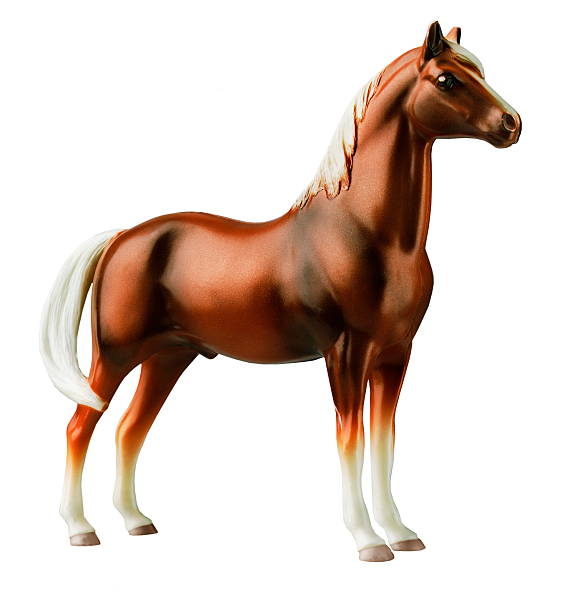 Plastic Toy Horse stock photo