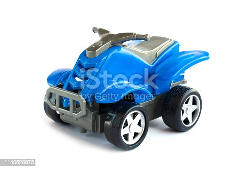 912120622 istock photo plastic toy of blue color. the plastic motorcycle for children 1143526875