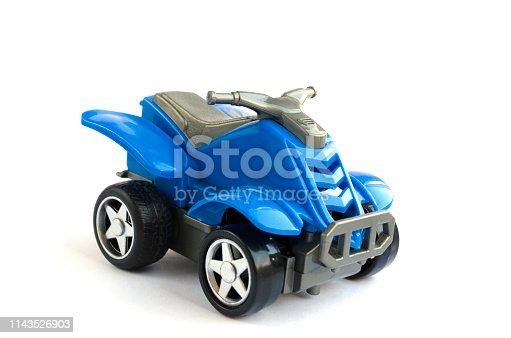 912120622 istock photo plastic toy of blue color. the plastic motorcycle for children 1143526903