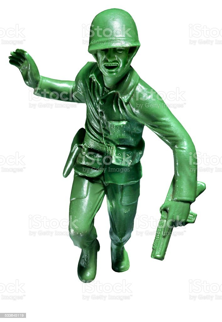 Plastic Toy Soldier stock photo
