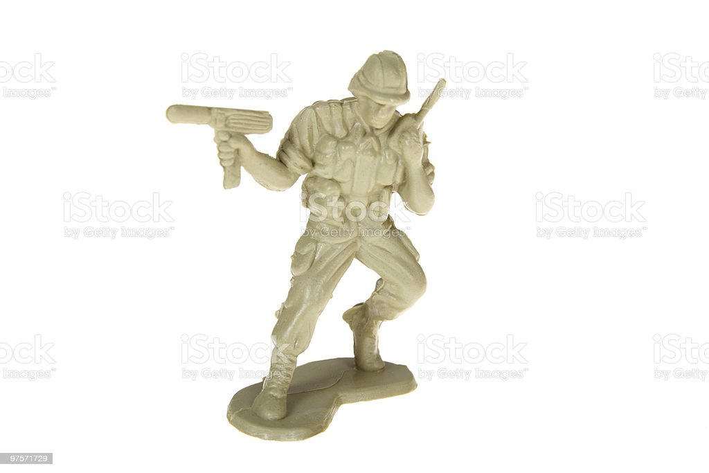 Plastic Toy Soldier royalty-free stock photo