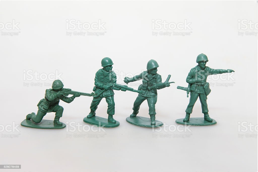 Plastic toy Soldiers stock photo