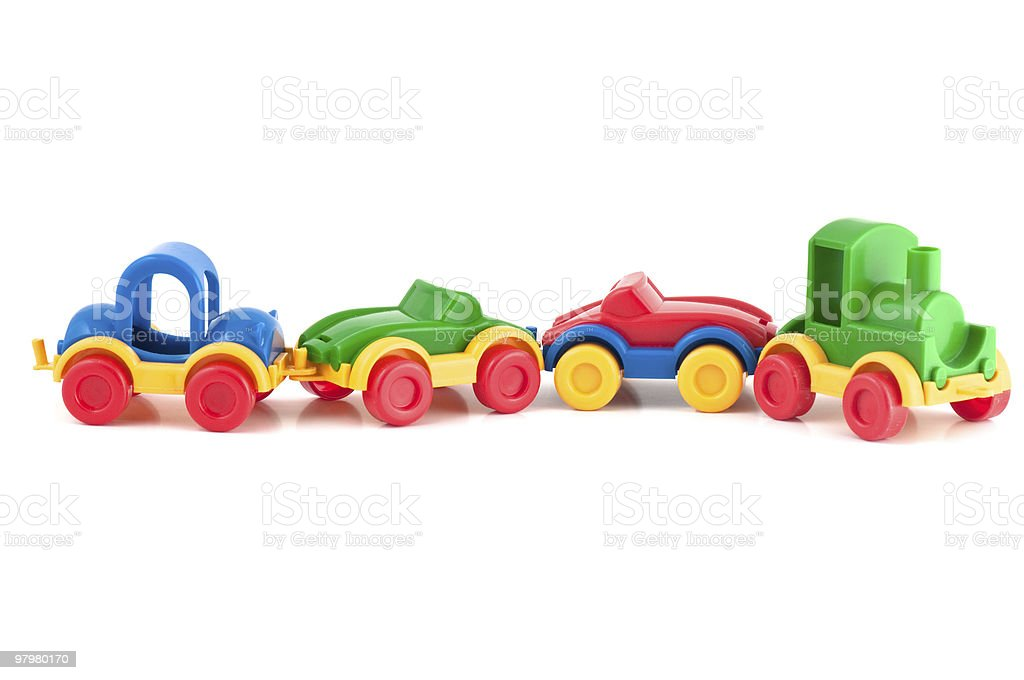 Plastic toy train royalty-free stock photo