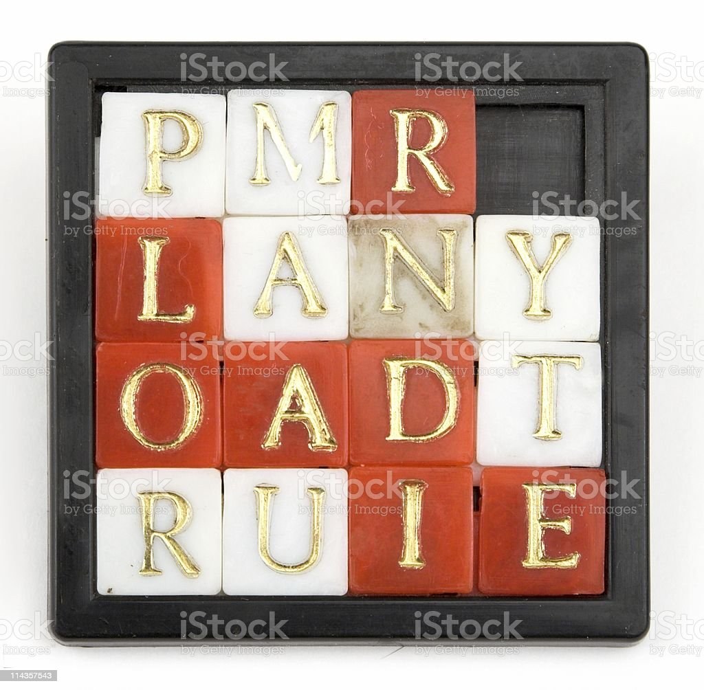 Plastic Toy Word Puzzle royalty-free stock photo
