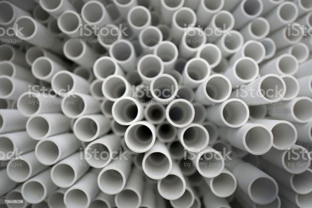 Plastic tubular Piping stock photo