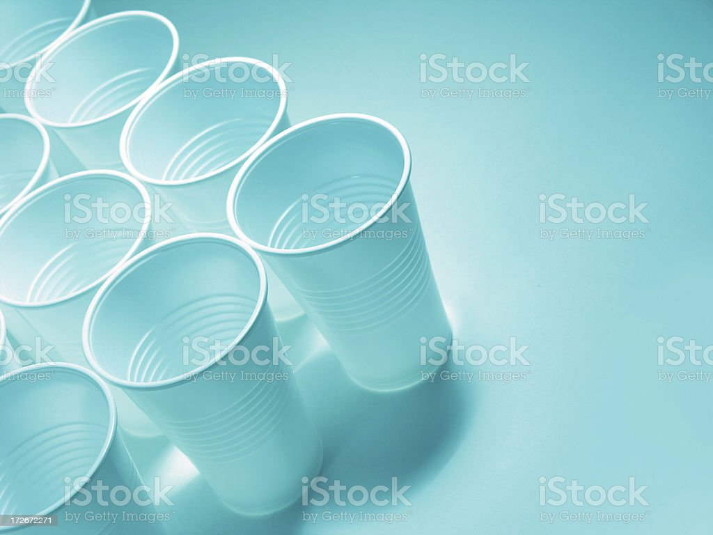 Plastic tumblers arrow royalty-free stock photo