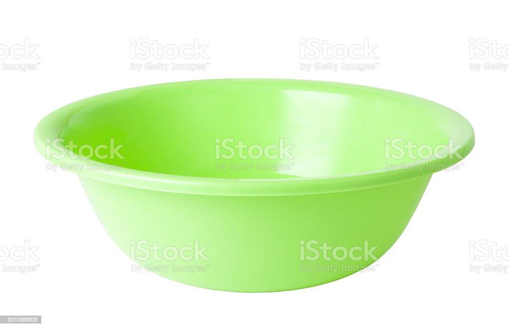 plastic wash bowl stock photo