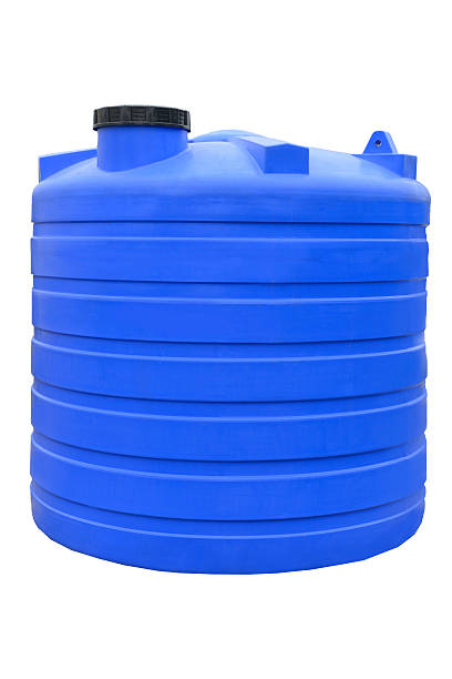 Plastic water and liquids barrel storage industrial container Plastic water and liquids barrel storage industrial container isolated on white background volume fluid capacity stock pictures, royalty-free photos & images