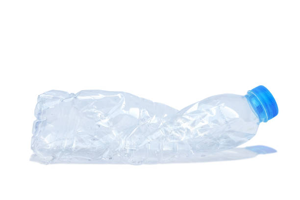 Plastic water bottle can be recycled, isolated on white background with clipping path. stock photo