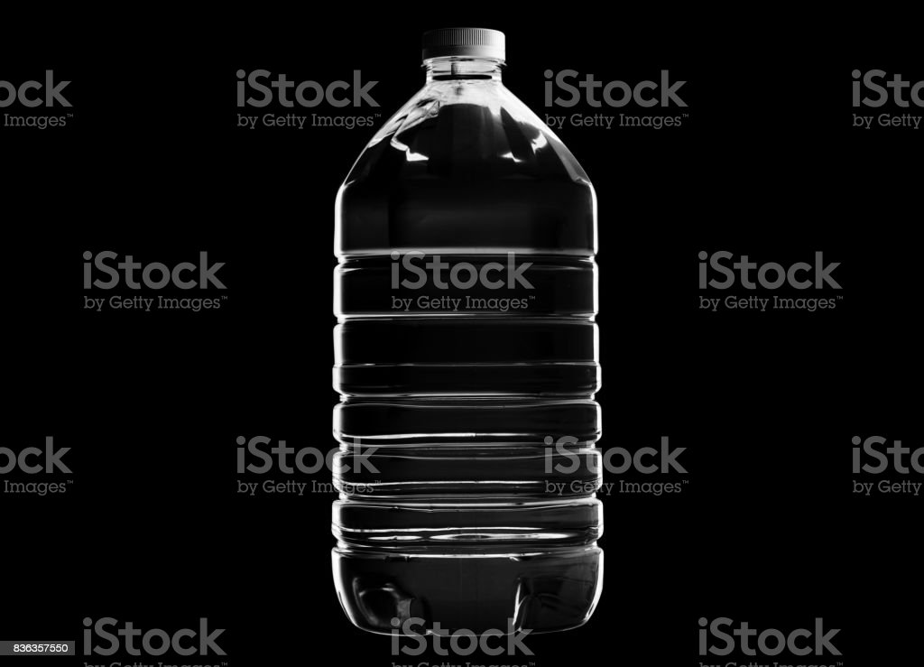Plastic water bottle isolated stock photo