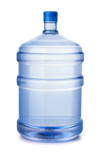 Plastic water bottle Five gallon plastic water bottle isolated on white gallon stock pictures, royalty-free photos & images