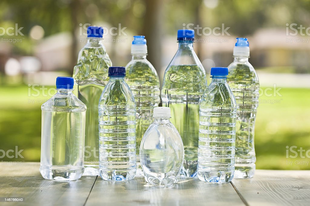 Plastic Water Bottles stock photo