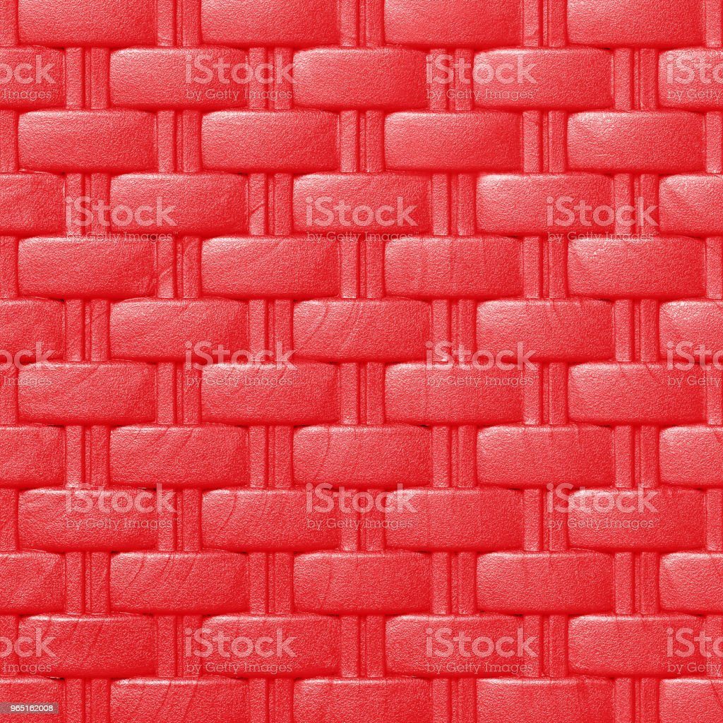 Plastic weave pattern texture and background; red color zbiór zdjęć royalty-free