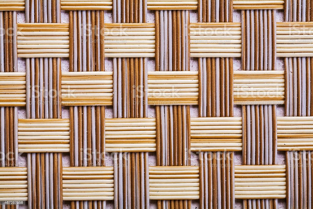 Plastic wicker woven texture background very close up stock photo