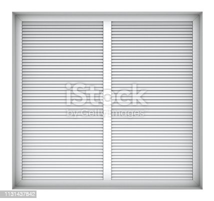 902034612istockphoto Plastic window frame with external blinds 1131437842