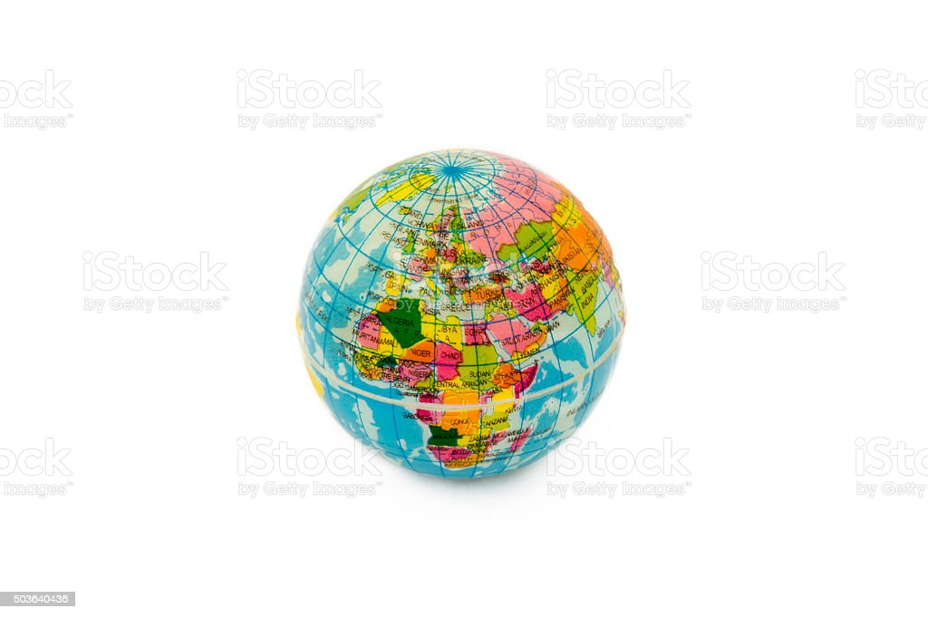 Plastic World Globe stock photo