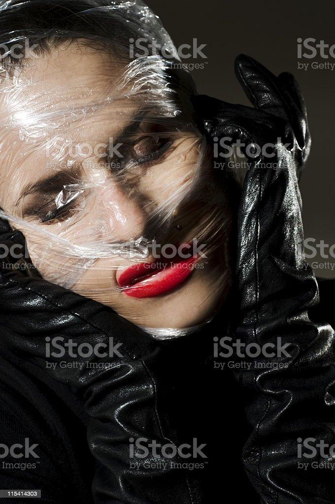 plastic wrap royalty-free stock photo