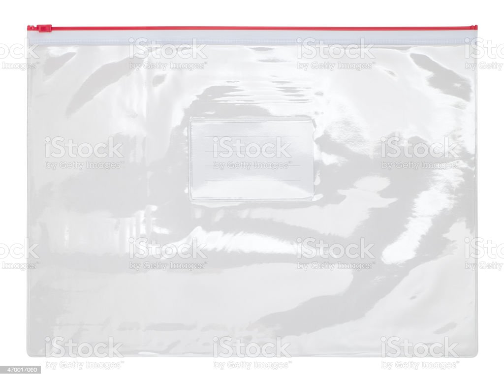 A plastic zipper bag on a white background stock photo