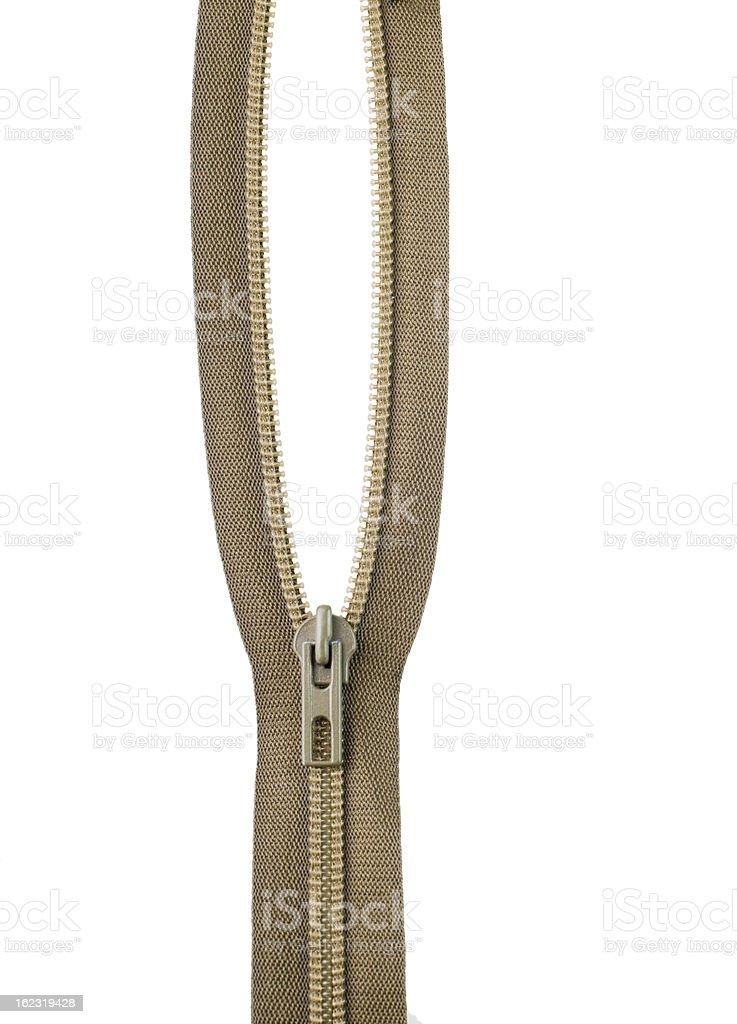 plastic zipper stock photo